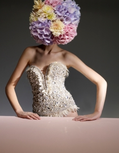 Bustier with Flowers
