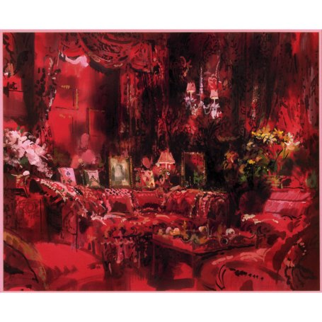 """Diana Vreeland, Living Room"" aka Garden in Hell by Jeremiah Goodman"